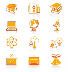 education objects icons juicy series vector image