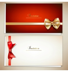 Elegant Invitation Cards Template vector image