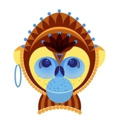 Head of monkey decorative geometric stylization vector image