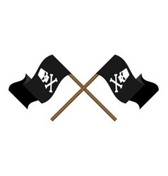 pirate flag symbol flat icon vector image