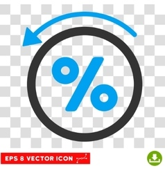 Rebate percent eps icon vector