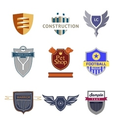 Set logo templates with a shield vector image vector image