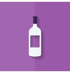 Wine bottle icon Flat design vector image