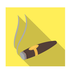 a tattered cigar with smoke a sign of authority vector image