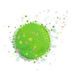 Abstract Green Earth vector
