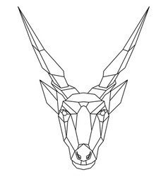 Abstract polygonal head african antelope eland vector