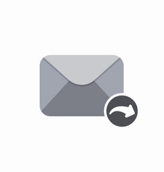 Arrow email mail reply icon vector