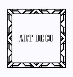 Art deco frame vector