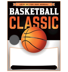 Basketball Classic Flyer vector