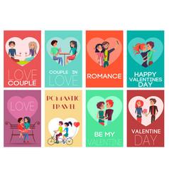 Be my valentine romance set vector