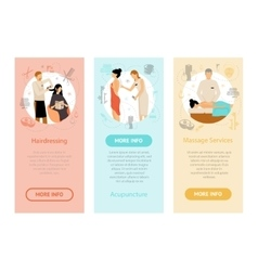 Beauty Spa Salon People Vertical Banners vector