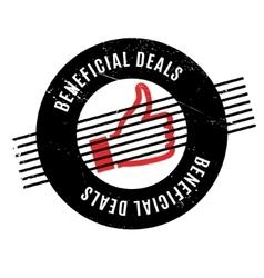 Beneficial Deals rubber stamp vector