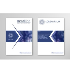 Blue annual report business brochure flyer design vector