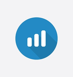business diagram chart Flat Blue Simple Icon with vector image