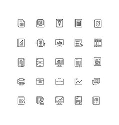 business documents finance simple icon line vector image