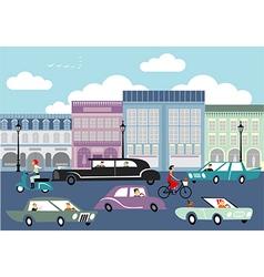 Busy street vector