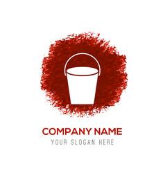 cane icon - red watercolor circle splash vector image