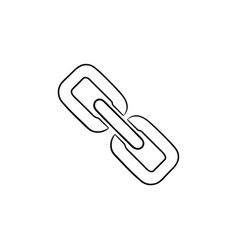 chain link icon hand drawn outline doodle icon vector image