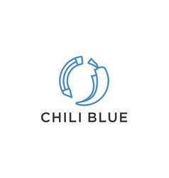 Chilli pencil logo design vector