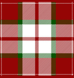 christmas tartan plaid scottish pattern vector image