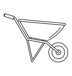 Construction wheelbarrow icon outline style vector