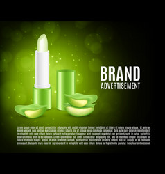 cosmetic ads design vector image