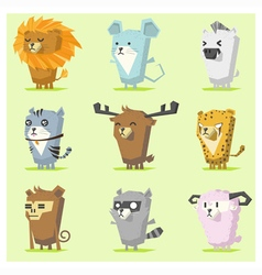 Cute Animals Icon Set 3 vector