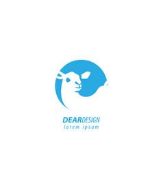 Dear design logo vector
