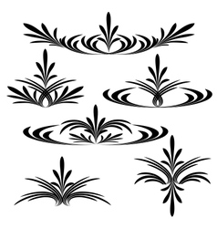 Decorative flower background vector image