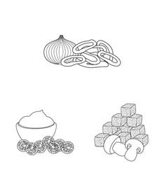 Design taste and crunchy sign vector