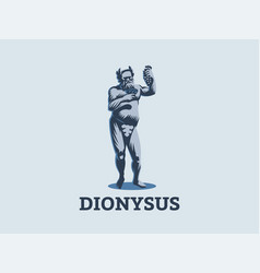 dionysus or bacchus holds a bunch vector image