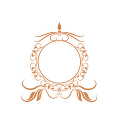 elegant round decorative frame flourish vector image