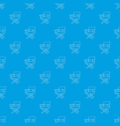 Film director chair pattern seamless blue vector