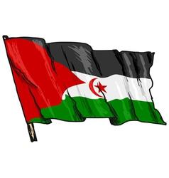 flag of Western Sahara vector image