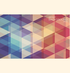 Flat retro color geometric triangle wallpaper vector