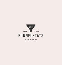 funneling chart bar statistics logo icon vector image