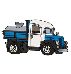 funny classic dairy tank truck vector image