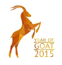 Goat New Year 2015 Sign vector image