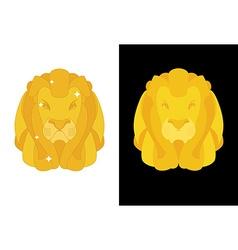 Gold lion predators head with mane of yellow vector