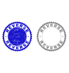 Grunge reverse scratched stamps vector