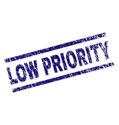 Grunge textured low priority stamp seal vector