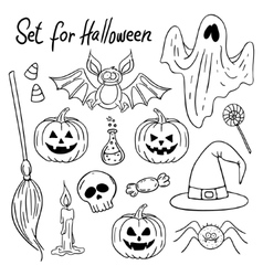 Halloween design elements Hand-drawn vector