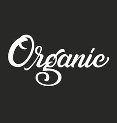 hand drawn lettering organic ink vector image