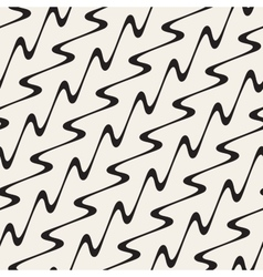 Hand Drawn Wavy Diagonal Lines Seamless vector
