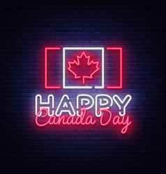 happy canada day greeting card design template vector image