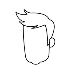 head man male avatar character hair style vector image