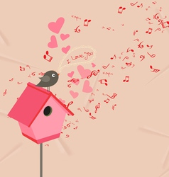 Hearts and music valentines romantic background vector