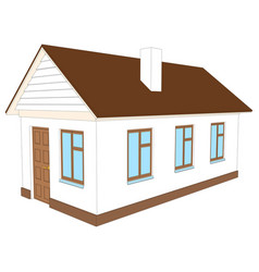 house with chimney vector image