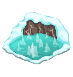 Ice cave on a white background vector image