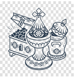 Icon traditional magi offerings vector